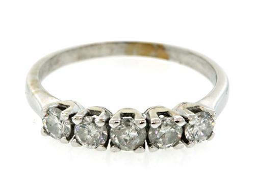 Classic Beauty: 5 Stone Diamond Band