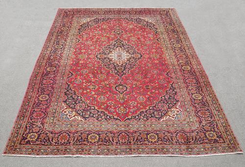 Nice Looking Semi Antique Persian Kashan 13.3x9.3