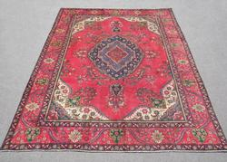 Highly Intricate Semi Antique Persian Tabriz 10.9x7.8