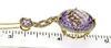 Dramatic Amethyst & Diamond Dangle Pendant Necklace
