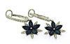 Fabulous Sapphire & Diamond Dangling Star Earrings