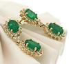 Sensational Emerald & Diamond Dangle Earrings