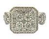 Amazing Square Diamond Cluster Ring