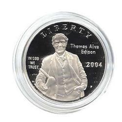 US Commemorative Dollar Proof 2004-P Thomas Edison