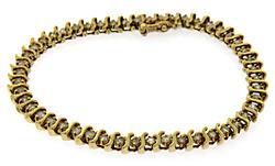 Alluring Diamond S Link Tennis Bracelet