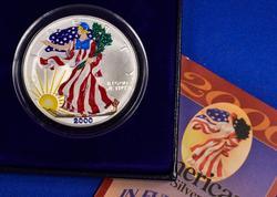2000 Colorized Silver Eagle