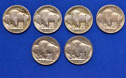 Great Buffalo Nickel Lot with 4 Teens Nickels