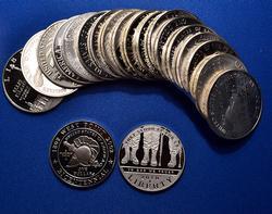 Proof Roll of Commem Silver Dollars