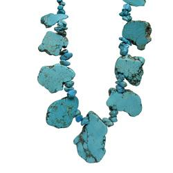 Turquoise Chunks Necklace, adjustable length