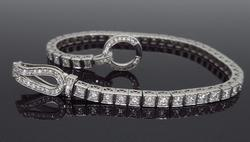 14K White Gold 2.00CTW Diamond Bracelet