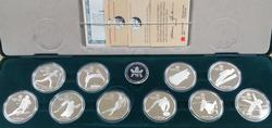 1988 Canada Winter Olympic $20 10 Coin Silver Proof Set
