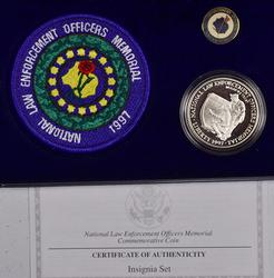 1997 National Law Enforcement Insignia Set Box Paper