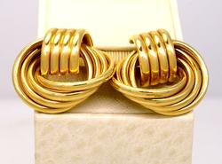 Vintage Gold Knot Earrings