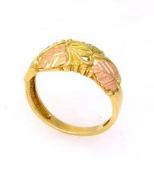 Black Hills Gold Leaf Ring, Size 6