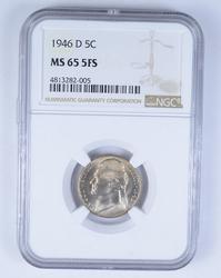 MS65 5FS 1946-D Jefferson Nickel - NGC Graded