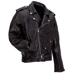 Genuine Buffalo Leather Motorcycle Jacket - XL