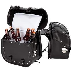 Beer Bags 4pc Studded Motorcycle Saddlebag Cooler Set