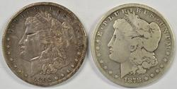 2 Carson City Morgan Silver Dollars from 1878 & 1892