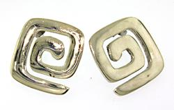 Sterling Silver Button Stud Earrings