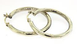 Small Hoop Sterling Silver Earrings