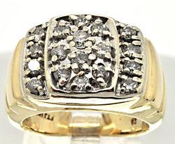 MEN'S BRAND NEW GOLD DIAMOND RING.
