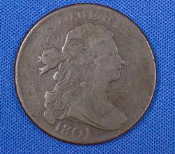 1801 Normal Reverse S - 224 Large Cent