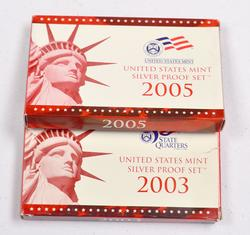 2003 and 2005 US Silver Proof Sets