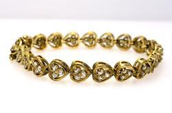 Vermiel Heart Link Bracelet, Sterling