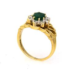 Ornate Emerald Ring, Size 6.5