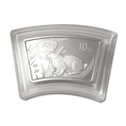 China 2011 Year of the Rabbit 1 oz Silver Fan