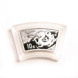 China 2012 Year of the Dragon 1 oz Silver Fan