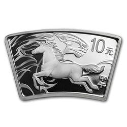 China 2014 Year of the Horse 1 oz Silver Fan