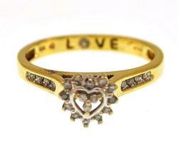 10KT Gold & Diamond Ring