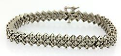 Terrific Diamond Chevron Bracelet
