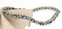 Fabulous Tanzanite & Diamond Line Bracelet