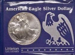 Key BU 1996 American Silver Eagle $