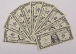 10 Assorted $1 CU Silver Certificates