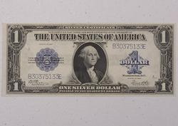 1923 CU Woods White $1 Silver Certificate