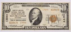 1929 Series  $10 San Francisco  National
