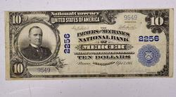 1902  $10 Series National Currency Mercer Pa