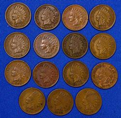 15 Full Liberty Indian Cents