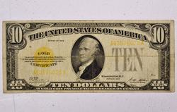 $10 Series 1928 Gold Certificate Fr 1173