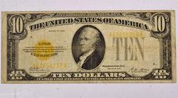 $10 Series 1928 Gold Certificate Fr 1173