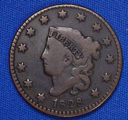1828 Small Date Large Cent Newcomb 10