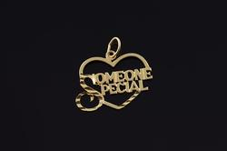 14K Yellow Gold Someone Special Heart Cut Out Charm/Pendant
