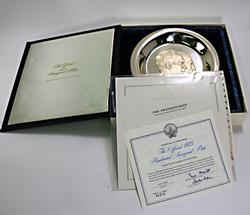 1973 Presidential Inagural Plate Limited Edition