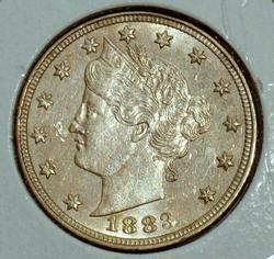 High Grade 1883 No Cents Liberty 'V' Nickel