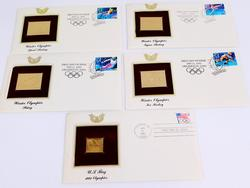5 Olympics 1991-92 1st Day Issues & 22K Stamps