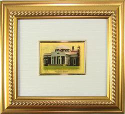 Collectible Limited Italian Handmade Gold Leaf Monument