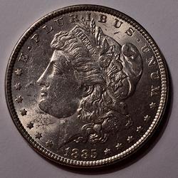 1885 BU Morgan Silver Dollar